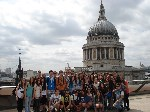 Spanish and Euroway students (St Paul's in the background)/2013